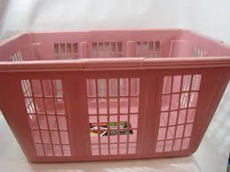 Pink Plastic Laundry Basket Extraordinary Vintage Rubbermaid Mauve Pink Plastic Laundry Basket Hamper CalCi
