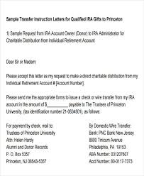10 Fund Transfer Letter Templates Pdf Doc Apple Pages Google