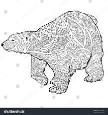 Small Picture Hand Drawn Coloring Pages Polar Bear Stock Vector 377558398