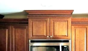 kitchen cabinet crown molding lighting