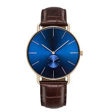 china luxury crocodile leather wrist watch blue face watches with leather bands supplier