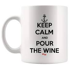 Amazoncom Pour The Wine Alcohol Drinks Party Mug Coffee Cup