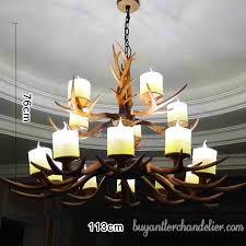 classic 15 cast deer antler chandeliers two tiered cascade unique rustic light fixtures decor