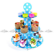 Baby Tray Decoration New colors 60 tier paper cupcake stand hold baby shower kid 18