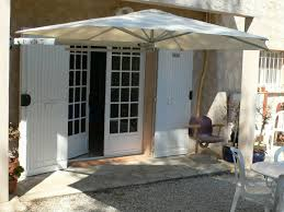 wall mounted patio umbrella aluminum polyolefin orientable