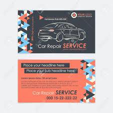 Automotive Service Business Card Template Car Diagnostics And