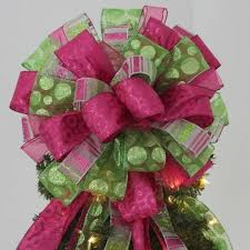 Red Christmas Tree Topper Bow With Streamers By Shannonkristina Purple Christmas Tree Bows