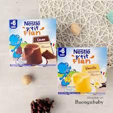 Đồ ăn dặm cho bé] Bánh flan Nestle cho bé ăn dặm trên 6 tháng, vị vani,  chocolate tại TP. Hồ Chí Minh