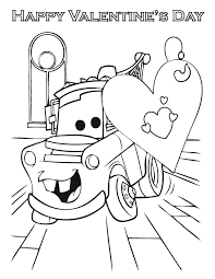 Small Picture Cars Happy Valentines Day Coloring Page H M Coloring Pages