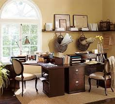 wall colors for home office. Home Office Using Wooden Desk And Neutral Wall Colors : Feng Shui Suggestions For