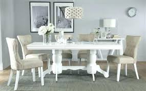 white dining table chairs authentic high gloss original extending with 6 oatmeal winsome living room sets ideas section