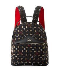 Christian Louboutin Back Loubi Small Jacquard Backpack