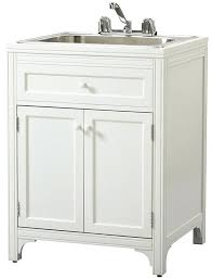 inspiring small laundry sink small laundry room glass mosaic white cabinets grey floor tiles small utility