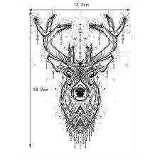1 шт красота тела временные татуировки Km 048 лось олень шаблон для женщин для