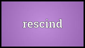 Rescind Meaning - YouTube