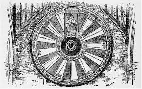 this is a sketch of the round table that can be seen inside the great hall