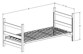 Twin Size Headboard Dimensions Dorm Bed Frame Measurements Bed Furniture Decoration