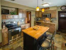Stone Tile Kitchen Floors Craftsman Kitchen With Stone Tile Limestone Counters In Spokane