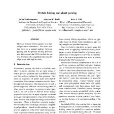 Chart Parsing Protein Folding And Chart Parsing Acl Anthology