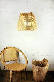 basket pendant light nz weave bamboo lamp diy wire