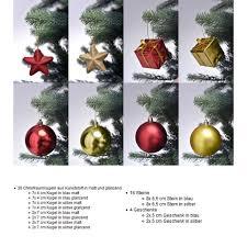 Christbaumschmuck In Rot Gold Weihnachtskugeln Glänzend Und Matt Baumschmuck