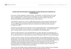 compare and contrast the poems the seduction by eileen mcauley  document image preview