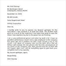 example apology letter