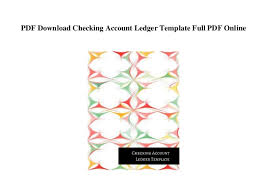 Pdf Download Checking Account Ledger Template Full Pdf Online