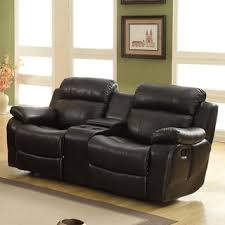 simmons lucky espresso reclining console loveseat. tribecca home eland black glider recliner loveseat simmons lucky espresso reclining console