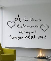 Beatles Love Quotes Beauteous WALL QUOTE THE BEATLES AND I LOVE HER ART STICKER EBay