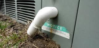 condensation drain on air conditioner unit