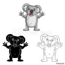 coloring book koala smile cartoon character