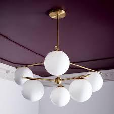 West Elm Ceiling Light Sphere Stem Chandelier West Elm Uk