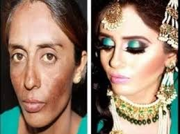look amazing bridal before and after makeup