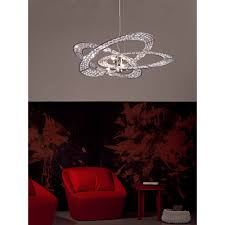 marchetti lighting. Marchetti Trilogy SO66 With Pendent Lamp Chrome, Crystal Intersecting Rings Lighting