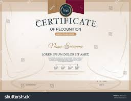 Certificate Layout Design Template Certificate Recognition Frame Design Template Layout Stock