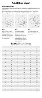 Converse Com Size Chart Converse Shoes Size Chart Uptown Greek