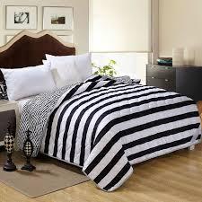 2018 whole black white comforter feather velvet filler comforter blanket doona duvet stripe stars fabric single full queen size from copy02