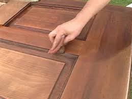 Refinish Stained Wood How To Refinish A Solid Wood Door How Tos Diy