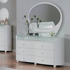 Global Bedroom Furniture Good Mirrored Bedroom Set On Evelyn White Glossy Dresser And