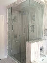 gallery of half wall shower enclosure amusing glass mounted jets