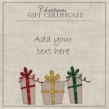 Christmas Gift Certificate Templates Template Free Pdf
