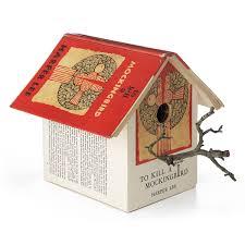 Birdhouse Mockingbird Birdhouse Bird House Made Of Discarded Library Books