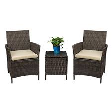 patio furniture sets for sale. Delighful For Devoko Patio Porch Furniture Set 3 Piece PE Rattan Wicker Chairs Beige  Cushion Table Outdoor Garden For Sets Sale P