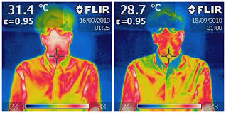 infrared images of thermal test mannequins show how a personal comfort station can cool down surface cbe heated cooled chair