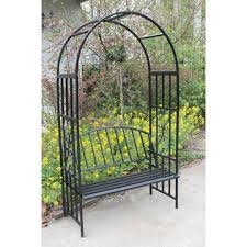 metal garden arch with bench 1