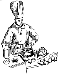 Small Picture Chef Cooking Clip Art Coloring Coloring Pages