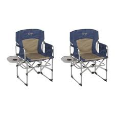 kamp rite compact folding outdoor camping directors chair w side table 2 pack com