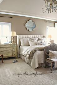SRT - carpet for bedrooms, Alexandria Beige wall color, Benjamin Moore  paint, French antiques