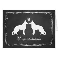 german congratulations greeting cards zazzle Wedding Greetings In German german shepherd dogs wedding congratulations card wedding greetings german